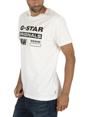 G-Star Graphic T-Shirt - White