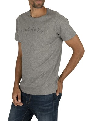 Hackett London Classic Logo T-Shirt - Grey Marl