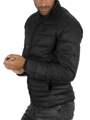Jack & Jones Bomb Collar Puffer Jacket - Black