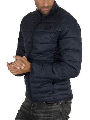 Jack & Jones Bomb Collar Puffer Jacket - Navy Blazer