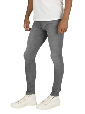 Jack & Jones Liam Original Skinny Jeans - Grey Denim
