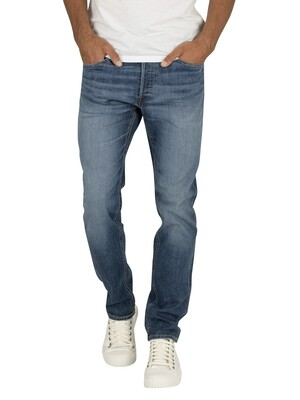 Jack & Jones Tim Original 814 Slim Straight Jeans - Blue Denim
