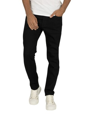 Jack & Jones Tim Original 816 Slim Straight Jeans - Black Denim