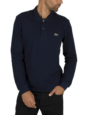 Lacoste Longsleeved Polo Shirt - Navy