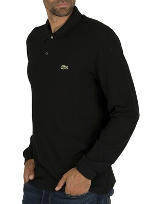 Lacoste Longsleeved Polo Shirt - Black