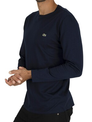 Lacoste Longsleeved T-Shirt - Navy