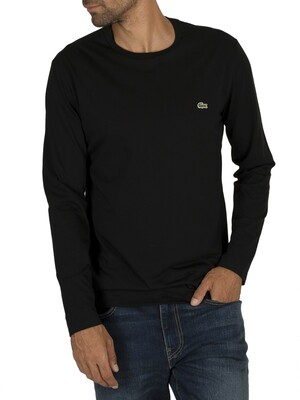 Lacoste Longsleeved T-Shirt - Black