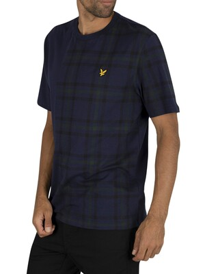 Lyle & Scott Check Block T-Shirt - Navy