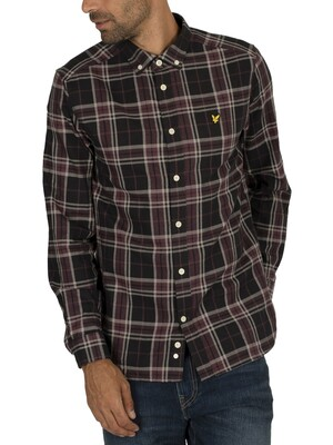 Lyle & Scott Check Flannel Shirt - True Black
