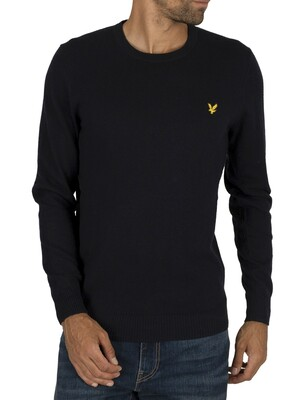 Lyle & Scott Cotton Merino Jumper - Dark Navy