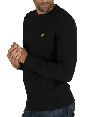 Lyle & Scott Cotton Merino Jumper - True Black