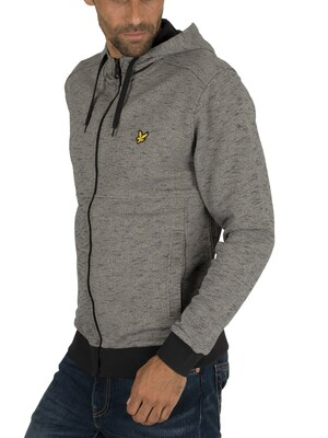 Lyle & Scott Dye Zip Through Hoodie - Dark Grey