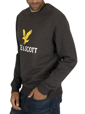 Lyle & Scott Logo Sweatshirt - Charcoal Marl