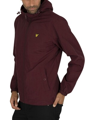 Lyle & Scott Microfleece Lined Zip Jacket - Burgundy