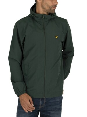 Lyle & Scott Microfleece Lined Zip Jacket - Jade Green