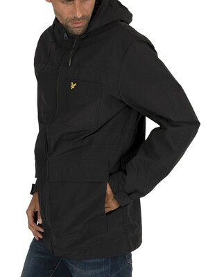 Lyle & Scott Microfleece Lined Zip Jacket - True Black