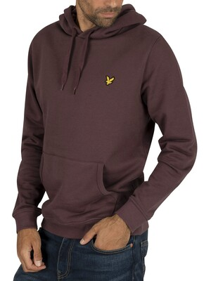 Lyle & Scott Pullover Hoodie - Berry