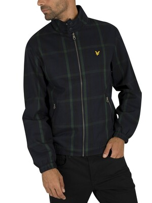 Lyle & Scott Tartan Harrington Jacket - Navy Check