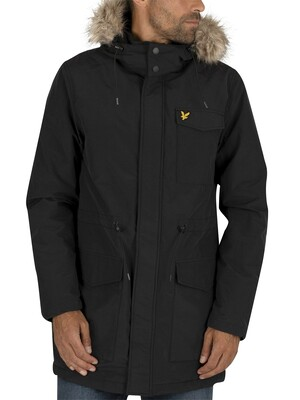Lyle & Scott Winter Weight Microfleece Parka Jacket - True Black
