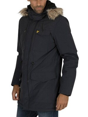 Lyle & Scott Winter Weight Microfleece Parka Jacket - Dark Navy