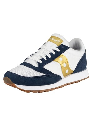 Saucony Jazz Original Vintage Trainers - White/Navy/Gold