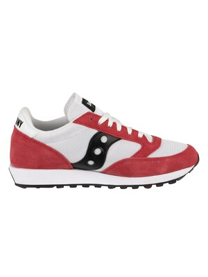 Saucony Jazz Original Vintage Trainers - White/Red/Black