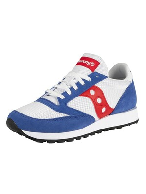 Saucony Jazz Original Vintage Trainers - White/Blue/Red