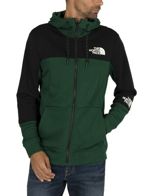 The North Face Lite Zip Hoodie - Night Green