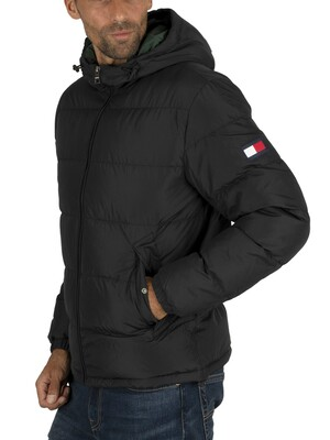 Tommy Hilfiger Hooded Redown Bomber Jacket - Jet Black