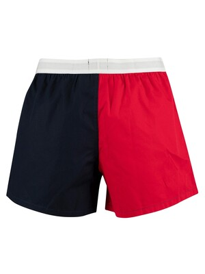 Tommy Hilfiger Woven Color Block Boxers - Navy Blazer