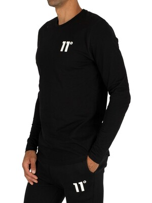 11 Degrees Core Longsleeved T-Shirt - Black
