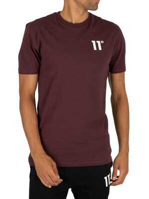 11 Degrees Core T-Shirt - Mulled Red
