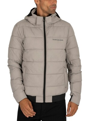 Calvin Klein Jeans Padded Stretch Puffer Jacket - Alloy
