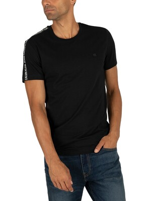 Calvin Klein Jeans Sleeves Logo T-Shirt - Black