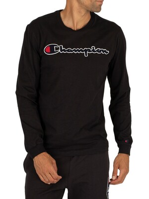 Champion Longsleeved Graphic T-Shirt - Black