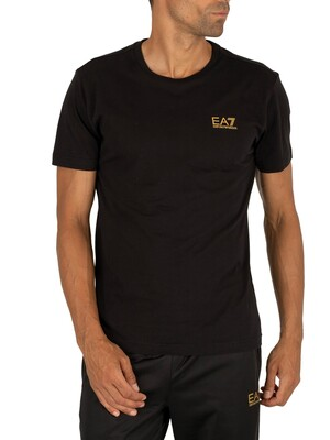 EA7 Chest Logo T-Shirt - Black