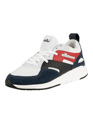 Ellesse Potenza Suede Trainers - White/Dark Blue/Black