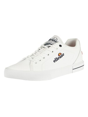 Ellesse Taggia Leather Trainers - White/Dark Blue