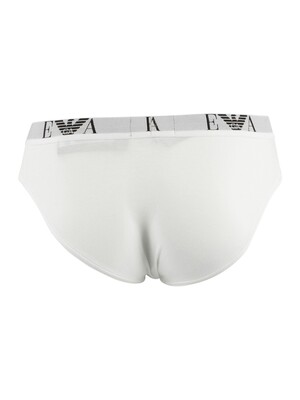 Emporio Armani 3 Pack Briefs - White