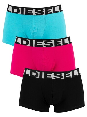 Diesel 3 Pack Shawn Fresh & Bright Trunks - Black/Pink/Blue