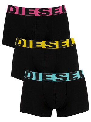 Diesel 3 Pack Shawn Instant Looks Trunks - Black