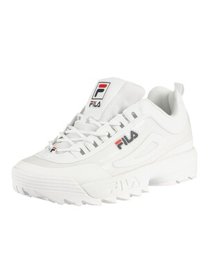 Fila Disruptor II No Sew Trainers - White/Navy/Red