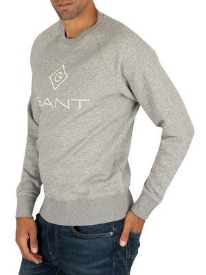 Gant Lock Up Sweatshirt - Grey Melange