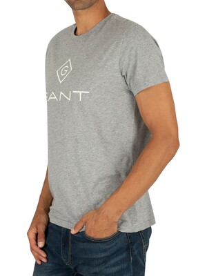Gant Lock Up T-Shirt - Grey Melange