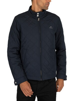 Gant The Quilted Windcheater Jacket - Evening Blue