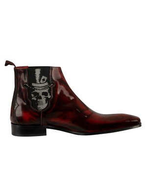 Jeffery West Scarface Shoes - Red Polished Leather