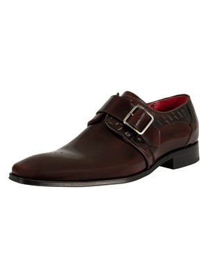Jeffery West Scarface Shoes - Burgundy Polish/Croco