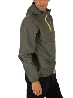K-Way Le Vrai 3.0 Leon Jacket - Black Torba Green