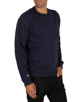 Lacoste Graphic Sweatshirt - Marine