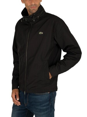 Lacoste Windbreaker Jacket - Black